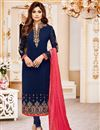image of Festive Special Shamita Shetty Party Wear Straight Cut Churidar Dress In Georgette