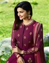 photo of Prachi Desai Burgundy Color Embroidered Party Wear Anarkali Suit In Georgette