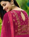 picture of Prachi Desai Dark Pink Embroidered Georgette Occasion Wear Anarkali Suit