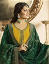 photo of Drashti Dhami Georgette Mustard Designer Embroidered Suit With Fancy Dupatta