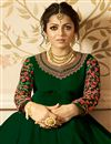 photo of Drashti Dhami Designer Floor Length Long Anarkali Salwar Kameez In Georgette With Embroidery