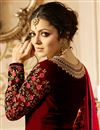 picture of Drashti Dhami Georgette Function Wear Red Designer Floor Legth Anarkali Dress With Work