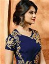 photo of Eid Special Jennifer Winget Georgette Designer Anarkali Dress In Blue With Embroidery
