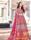 image of Art Silk Fabric Party Wear Readymade Anarkali Salwar Suit