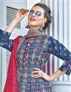 photo of Occasion Wear Blue Color Printed Readymade Anarkali Salwar Kameez
