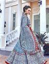 photo of Art Silk Fabric Light Cyan Color Readymade Anarkali Suit