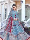 image of Art Silk Fabric Light Cyan Color Readymade Anarkali Suit