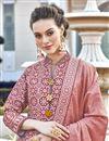 photo of Peach Color Printed Art Silk Fabric Party Wear Readymade Anarkali Salwar Kameez
