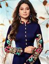 photo of Jennifer Winget Navy Blue Georgette Embroidered Readymade Anarkali Salwar Kameez