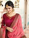 photo of Prachi Desai Art Silk Straight Cut Embroidered Suit