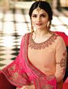 photo of Prachi Desai Embroidered Straight Cut Dress In Salmon