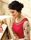 photo of Prachi Desai Crimson Art Silk Fancy Party Wear Suit
