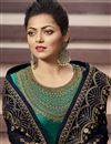 photo of Drashti Dhami Designer Function Wear Georgette Embroidered Straight Cut Suit