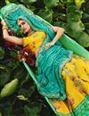 photo of Yellow Color Art Silk Fabric Printed Sangeet Wear Fancy Lehenga Choli