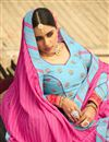 photo of Art Silk Fabric Printed Wedding Wear Trendy Lehenga Choli In Sky Blue Color