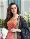 photo of Function Wear Pink Color Art Silk Fabric Readymade Anarkali Dress
