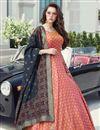 image of Function Wear Pink Color Art Silk Fabric Readymade Anarkali Dress