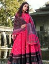 image of Rani Color Party Wear Readymade Printed Anarkali With Leggings In Art Silk