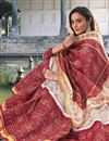photo of Party Wear Readymade Art Silk Printed Anarkali With Leggings In Off White Color