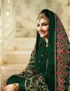 photo of Prachi Desai Function Wear Embroidered Semistitched Anarkali