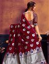 photo of Trendy Maroon Weaving Work Saree In Art Silk Fabric