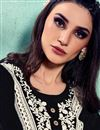 photo of Black Color Festive Wear Rayon Fabric Fancy Embroidered Kurti