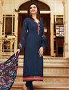 image of Prachi Desai Crepe Straight Cut Churidar Dress