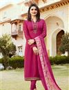 image of Prachi Desai Rani Churidar Salwar Suit in Crepe