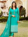 image of Prachi Desai Designer Straight Salwar Suit In Plus Size