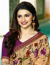 photo of Prachi Desai Georgette Office Wear Printed Casual Wear Saree In Chikoo Color