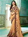 image of Prachi Desai Georgette Office Wear Printed Casual Wear Saree In Chikoo Color