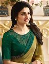 photo of Prachi Desai Khaki Color Casual Fancy Fabric Saree