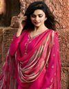 photo of Prachi Desai Designer Festive Wear Fancy Dark Pink Crepe Fabric Embellished Dress