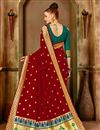 photo of Party Wear Traditional Saree In Art Silk With Weaving Work