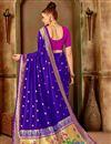 photo of Art Silk Fabric Traditional Purple Weaving Work Fancy Party Wear Saree