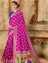 image of Function Wear Pink Fancy Art Silk Weaving Work Saree