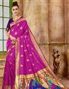 image of Weaving Work Pink Art Silk Fabric Fancy Function Wear Traditional Saree