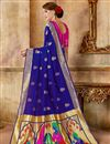 photo of Traditional Function Wear Art Silk Fabric Purple Saree With Weaving Work