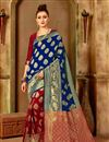image of Art Silk Function Wear Fancy Saree In Blue Color