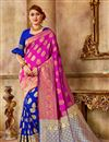 image of Pink Art Silk Party Wear Traditional Saree