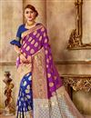image of Function Wear Fancy Purple Saree In Art Silk