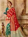image of Party Style Red Art Silk Traditional Saree