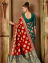 photo of Traditional Fancy Saree In Red Color Art Silk