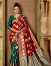 image of Red Color Function Wear Fancy Saree In Art Silk