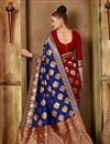 photo of Traditional Fancy Saree In Navy Blue Art Silk