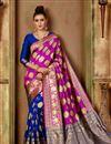 image of Function Wear Fancy Art Silk Saree In Pink