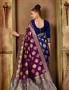 photo of Art Silk Fabric Function Wear Fancy Saree In Purple