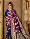 image of Art Silk Fabric Function Wear Fancy Saree In Purple