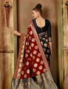 photo of Party Style Art Silk Fabric Red Traditional Saree