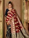 image of Party Style Art Silk Fabric Red Traditional Saree
